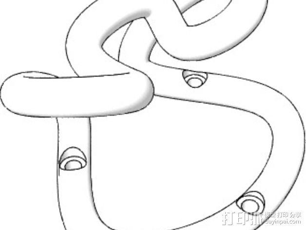 简易挂钩Loop Hook 3D模型  图3