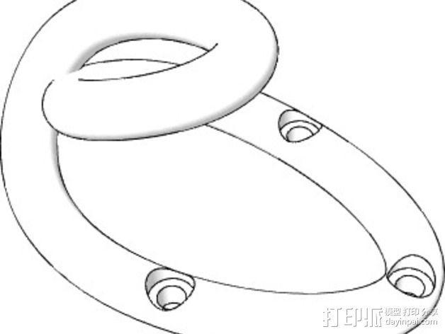 简易挂钩Loop Hook 001 3D模型  图3
