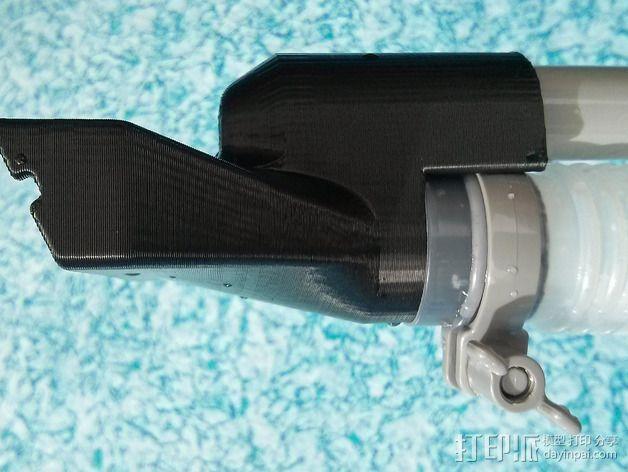 真空吸尘器软管吸嘴 3D模型  图2