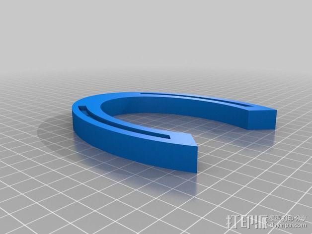 定制化马蹄铁 3D模型  图1
