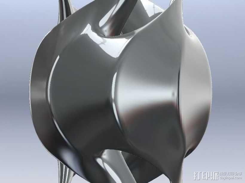餐巾环 3D模型  图2