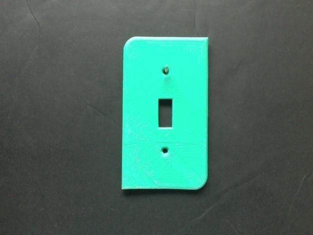 电源开关面板 3D模型  图2