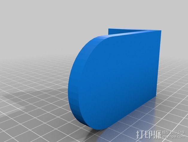 门挡适配器 3D模型  图2