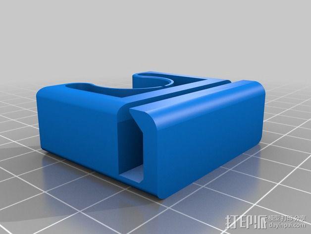 FX面罩软管夹 3D模型  图2