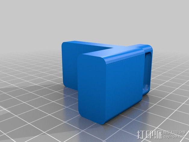 定制化简易门档 3D模型  图2