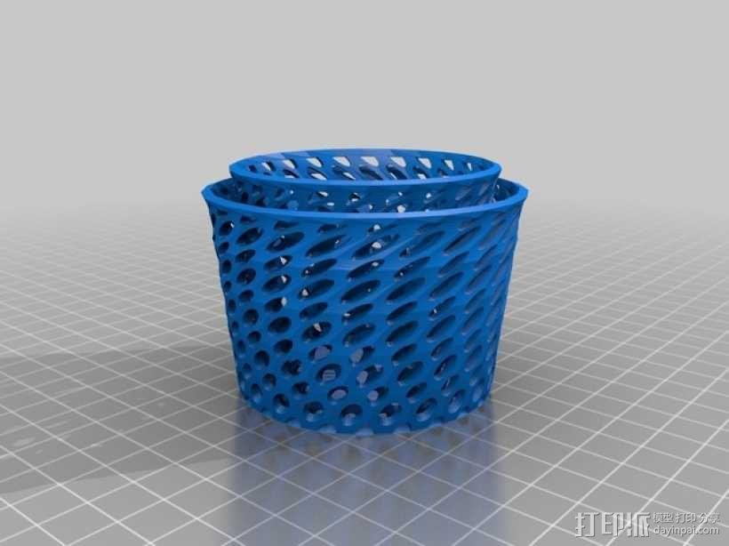 双层茶蜡灯罩 3D模型  图1