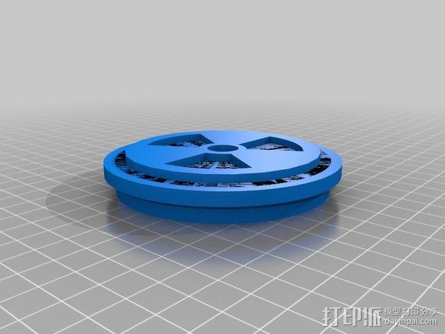 圆柱形存储容器 3D模型  图2