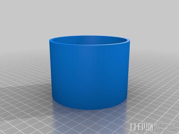 圆柱形存储容器 3D模型  图3