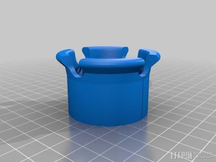 iRobot机器人吸尘器毛发清洁装置 3D模型  图3