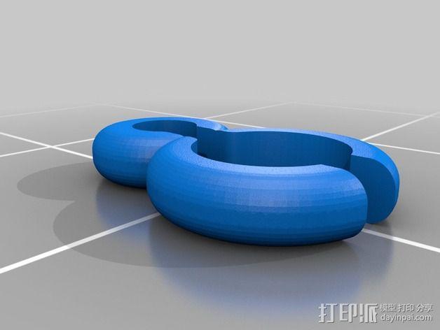 LG HBS 700蓝牙耳机导线固定夹  3D模型  图2