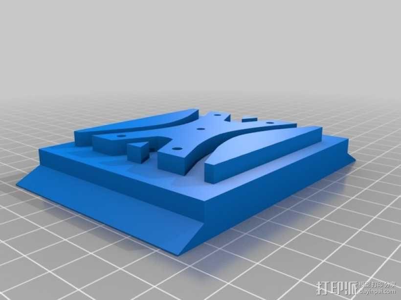 三星2494l LW显示器固定架 3D模型  图5
