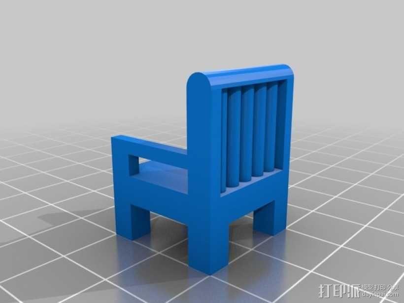 迷你椅子 3D模型  图2