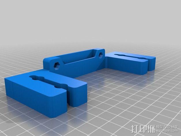 壁挂式手动搅拌机挂钩 3D模型  图2