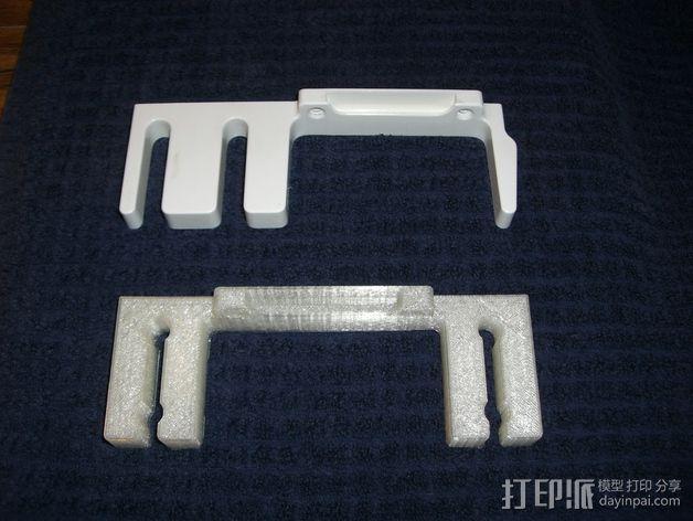 壁挂式手动搅拌机挂钩 3D模型  图4