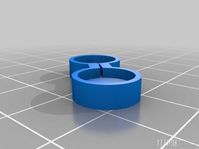 宜家smycke时钟连接器 3D模型  图2