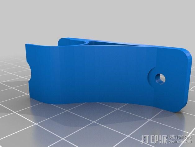 窗帘杆支架 3D模型  图2