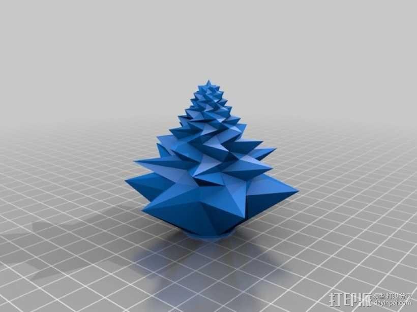 几何形圣诞树 3D模型  图2
