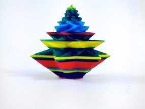 几何形圣诞树 3D模型