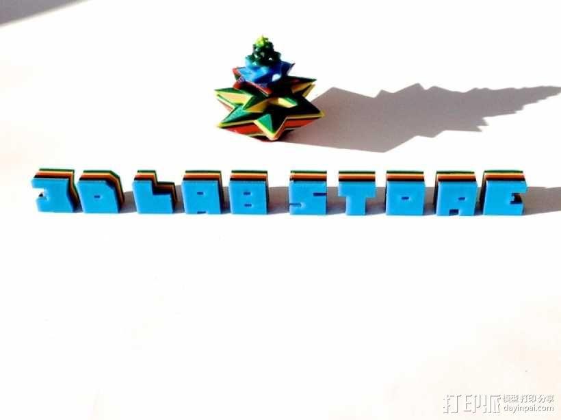 几何形圣诞树 3D模型  图3