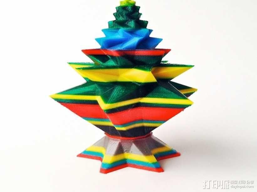 几何形圣诞树 3D模型  图5
