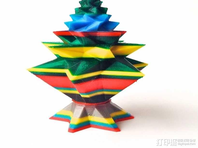 几何形圣诞树 3D模型  图4