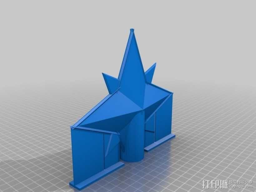 圣诞树顶部装饰品 3D模型  图2
