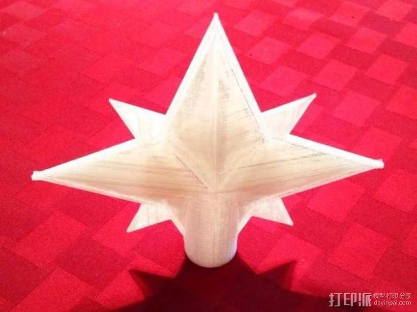圣诞树顶部装饰品 3D模型  图1