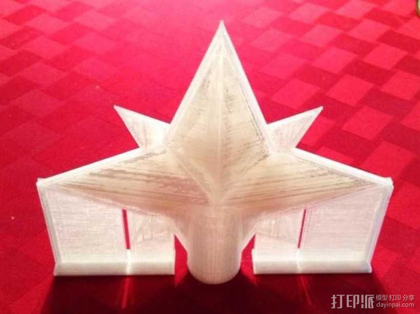 圣诞树顶部装饰品 3D模型  图3