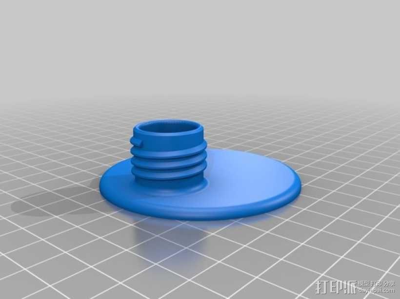 玻璃瓶洗涤剂配适器 3D模型  图3