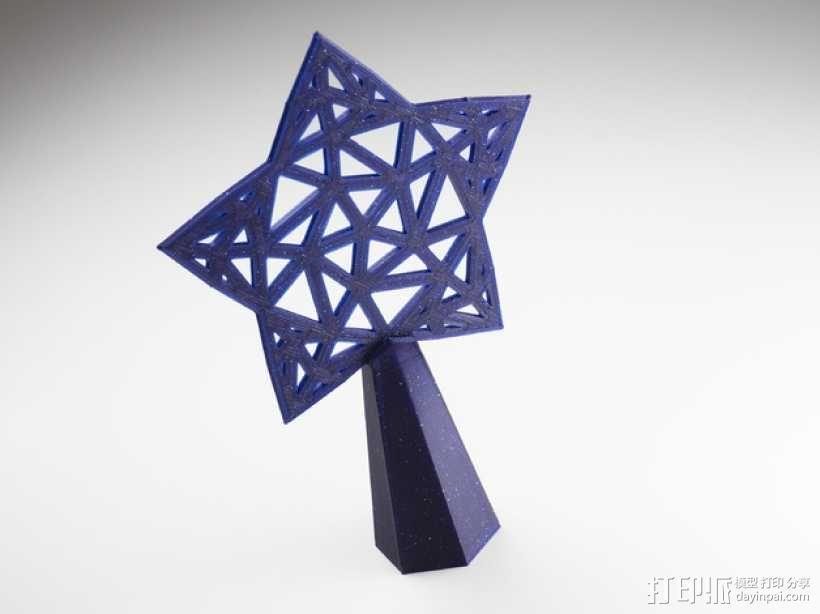 Stargazy圣诞树顶部装饰品 3D模型  图1