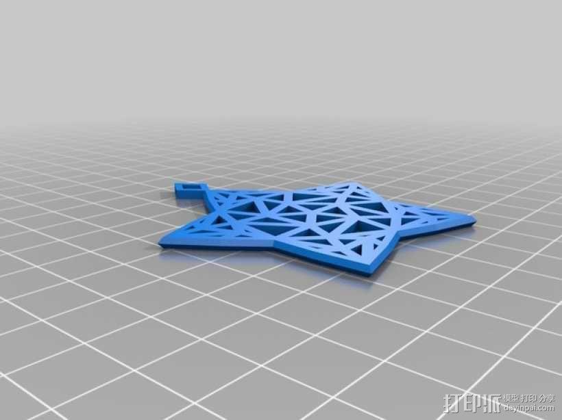 Stargazy圣诞树顶部装饰品 3D模型  图3