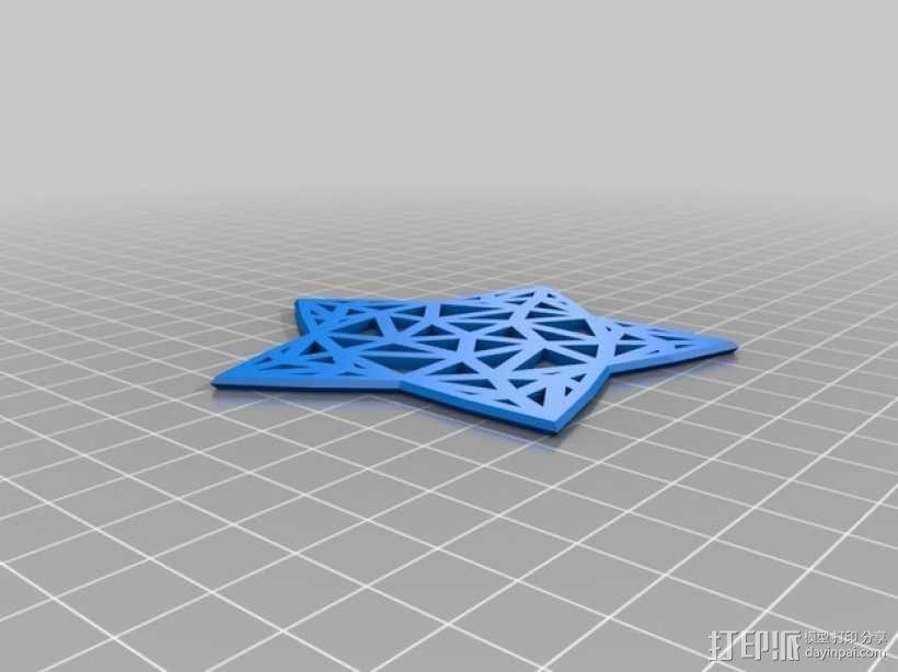 Stargazy圣诞树顶部装饰品 3D模型  图2