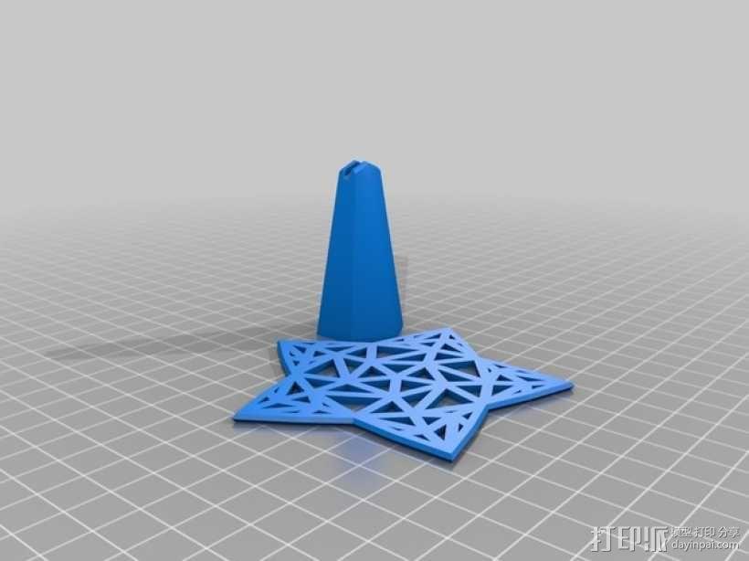 Stargazy圣诞树顶部装饰品 3D模型  图5