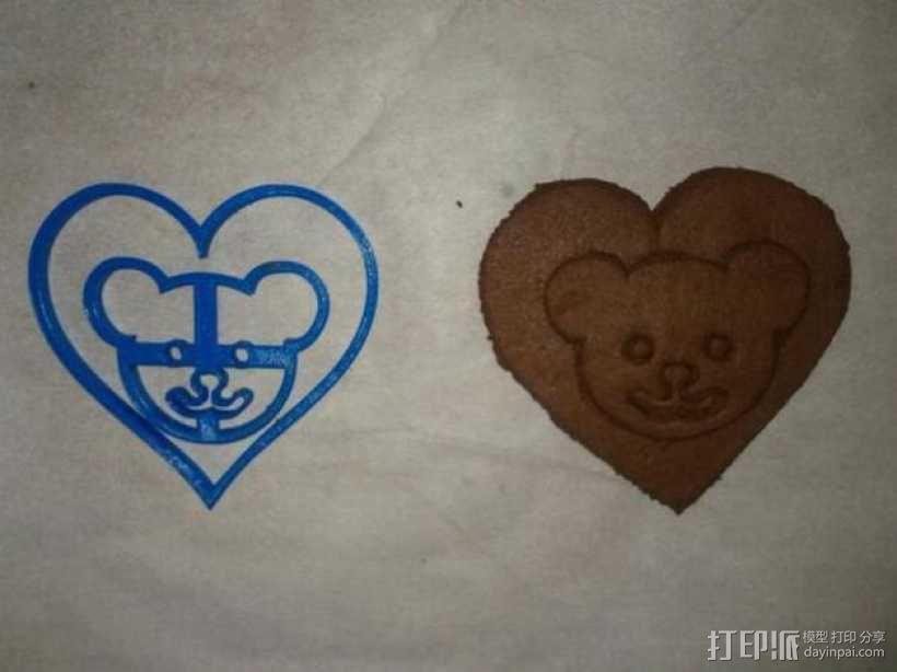 小熊 饼干制作模具 3D模型  图1