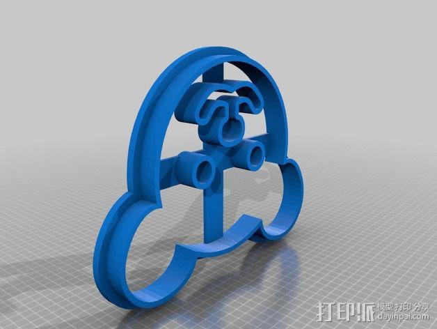 小熊 饼干制作模具 3D模型  图2