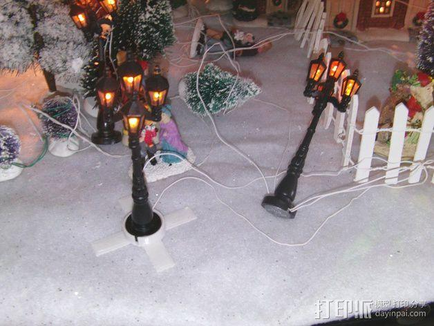 圣诞灯底座 3D模型  图1