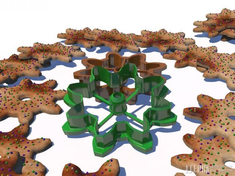 齿轮 饼干制作模具 3D模型  图1