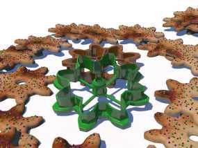齿轮 饼干制作模具 3D模型