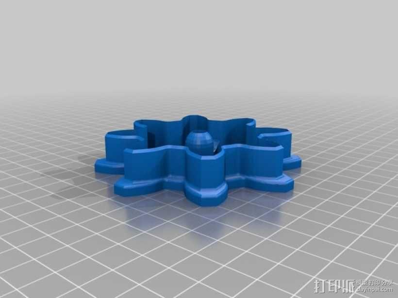 齿轮 饼干制作模具 3D模型  图2