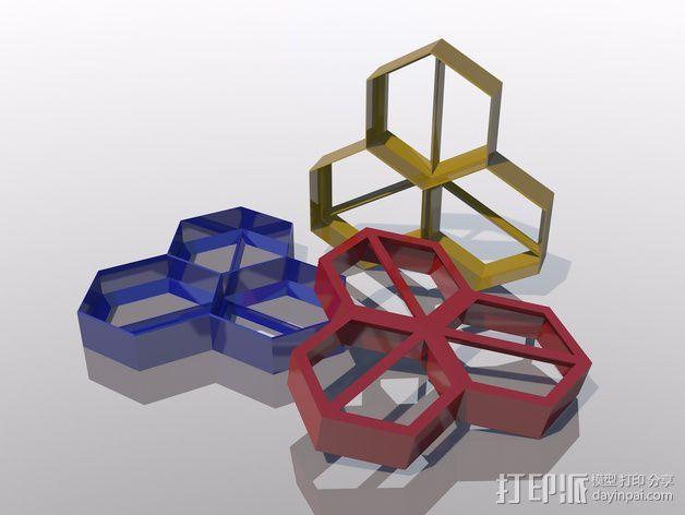 多边形 饼干制作模具 3D模型  图1
