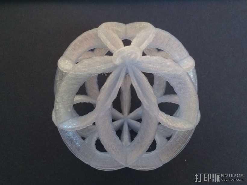 螺旋小球装饰品 3D模型  图1