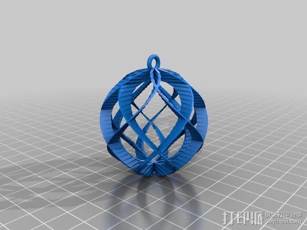 螺旋小球装饰品 3D模型  图2