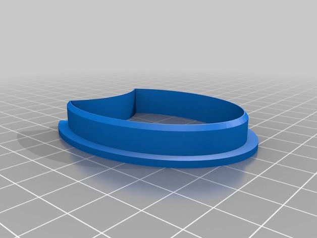 猫头鹰 饼干制作模具 3D模型  图2