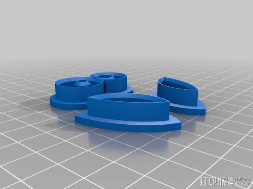 猫头鹰 饼干制作模具 3D模型  图3