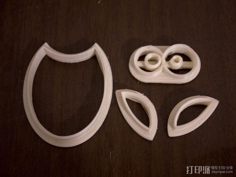 猫头鹰 饼干制作模具 3D模型  图4