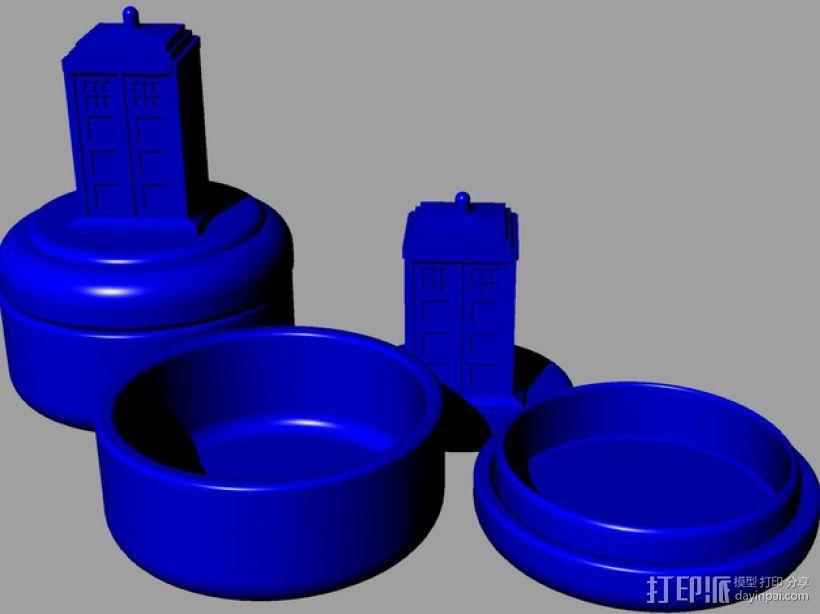 塔迪斯 圆形小盒 3D模型  图1