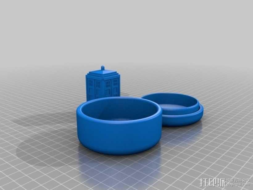 塔迪斯 圆形小盒 3D模型  图2