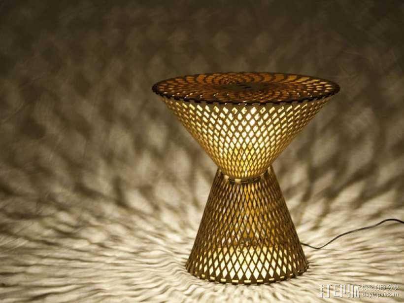 Kerf桌面灯罩 3D模型  图1
