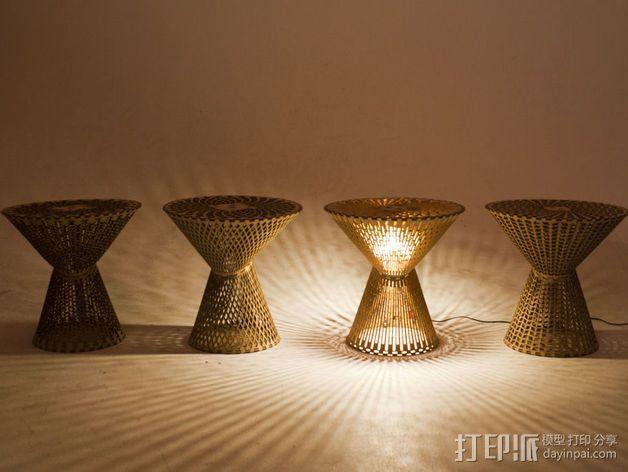 Kerf桌面灯罩 3D模型  图3