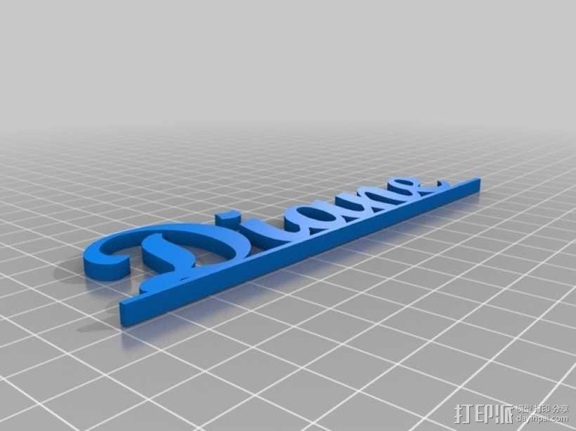 个性化笔架 3D模型  图3